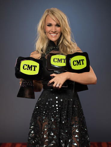"""CARRIE UNDERWOOD DOMINATES THE 2015 """"CMT MUSIC AWARDS"""" WINNING THREE; SETS NEW RECORD FOR OVERALL WINS IN SHOW HISTORY"""